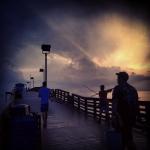 Fishing Pier in Thunder